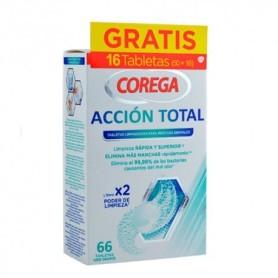 Corega acción total 66 pastillas limpiadoras