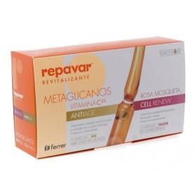 Repavar revitalizante metaglicanos antiage + cell renew 30 ampollas