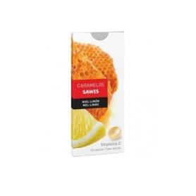 Sawes caramelos blister sin azucar 1 envase 22 g sabor miel con limon