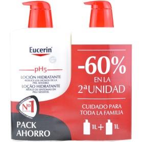 pack eucerin loción hidratante 1l+1l 60% 2º unidad