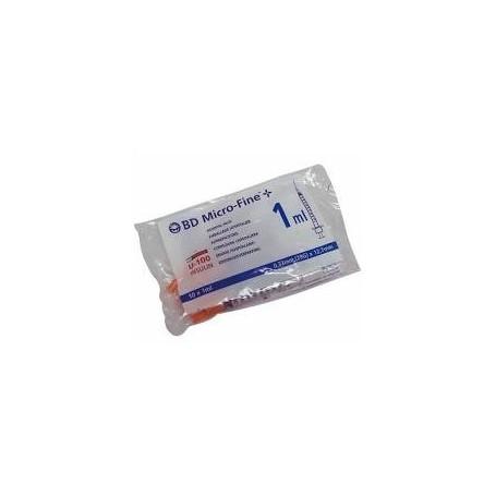Jeringa de insulina escala 2 en 2 bd microfine+ 1ml (29g) 0.33 x 12.7mm 10 u