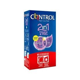 Control 2 in 1 touch&feel preservativo+gel 6u