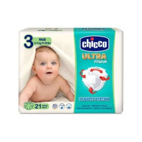 Pañal chicco dry fit talla3