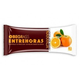 Obegrass barrita entrehoras chocolate y naranja