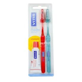 Cepillo dental adulto vitis medio duplo