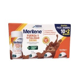 Meritene fuerza y vit 12 botellas chocolate 125ml