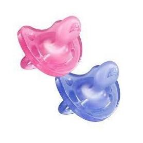 Chupete silicona chicco physio soft todogoma 6- 12 m niña 2 chupetes