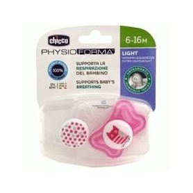 Chupete physio light rosa  6-16m 2 uds